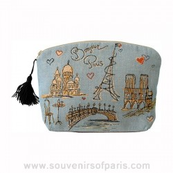 """Bonjour Paris"" Cosmetic Bag"
