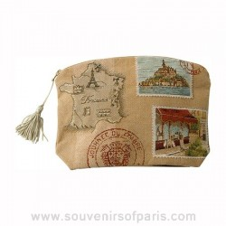 Paris/French Postcard Cosmetic Bag