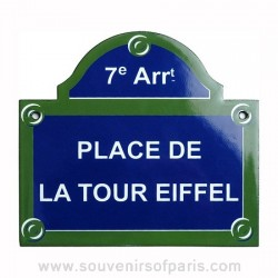 Place de la Tour Eiffel Enamel Street Sign