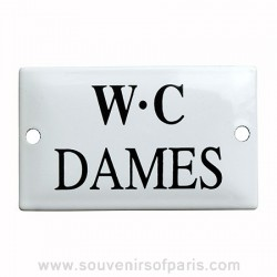 Ladies' Toilet French Enamel Door Sign/Plaque