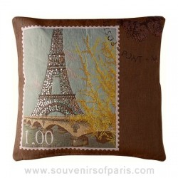 "Sparkling Eiffel Tower Pillow Cover ""Love From Paris"""