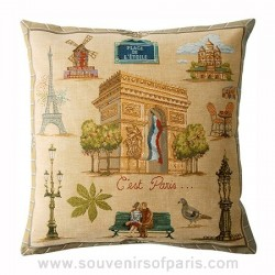 "Paris Pillow Cover ""C'est Paris"""
