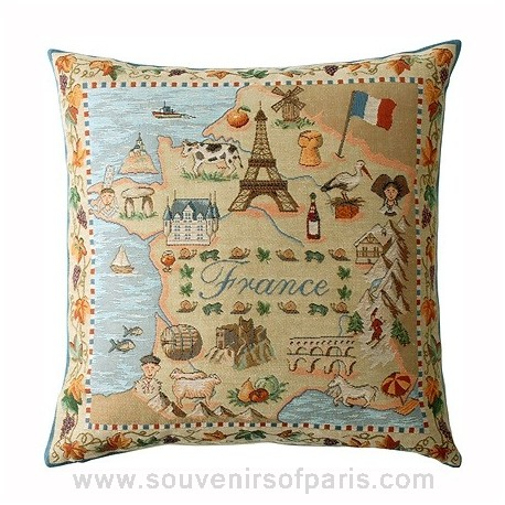"""French Pillow Cover """"Eternal France"""""""