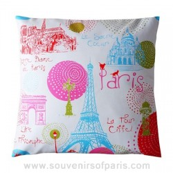 "Paris ""Circles"" Pillow Cover"