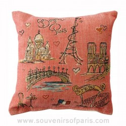 """Bonjour Paris"" Decorative Pillow"
