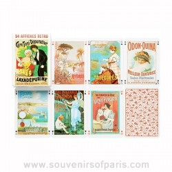 French Vintage Posters Playing Cards