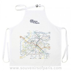 Paris Metro Map Apron