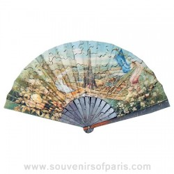 Paris Universal Exhibition Fan Wooden Jigsaw Puzzle