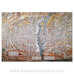 Paris Map Wooden Jigsaw Puzzle – XVI Century