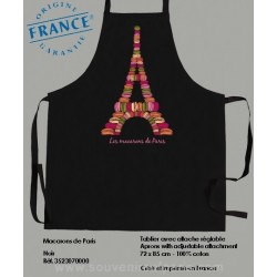 Macaroons of Paris noir Apron