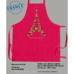 Macaroons of Paris rose Apron