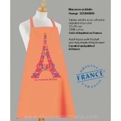 Macaroons of Paris orange Apron