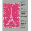 Paris with flowers pink dish Towel