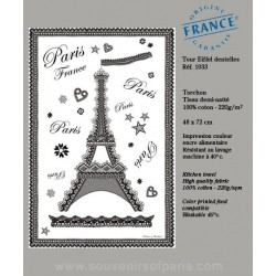 Lace Eiffel Tower dish Towel