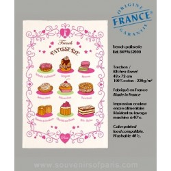 French Pastry dish Towel
