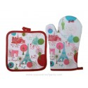 Paris Rounds Oven glove and Potholder
