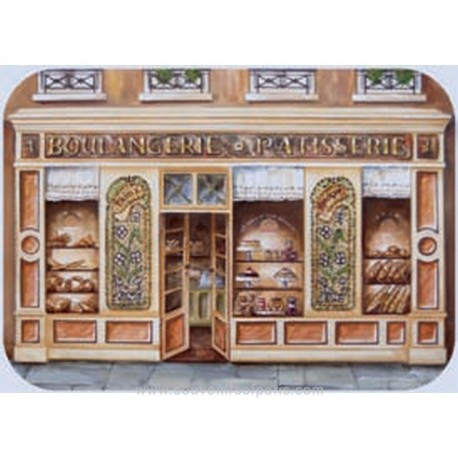 """""""Boulangerie"""" (Bakery) Plastic Placemate"""