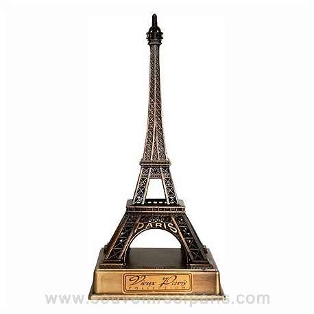 Bronze Metal Eiffel Tower Replica with Base - Size 2