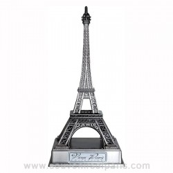 """Old Silver Eiffel Tower with Base - 2.37"""" (6 cm)"""