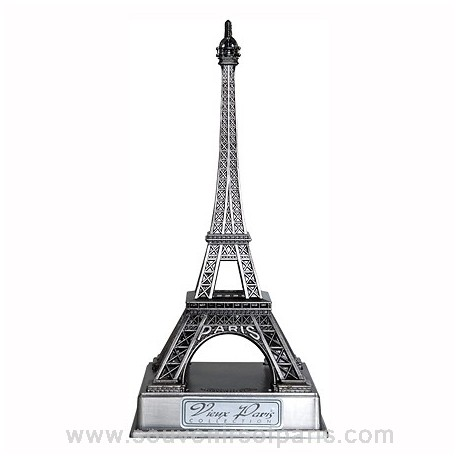 Old Silver Finish Eiffel Tower Replica with Base - Size 2