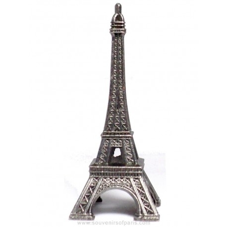 "Old Silver Eiffel Tower - Size 2 - 2.8"" (7 cm)"
