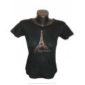 "T-shirt Strass ""Eiffel Tower strass"""