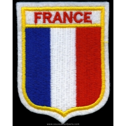 Badge French Flag in the shape of Blazon