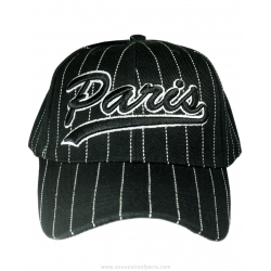 Baseball Cap Paris with white stripes